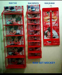 Rak gantung set Mickey mouse