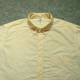 UNIQLO Button Down Oxford Shirt Short Sleeve Size Slimfit XL