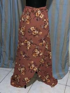 Forever 21 wrap maxi skirt