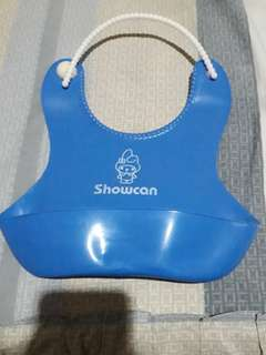 Silikon silicone Bib slabber celemek preloved like new