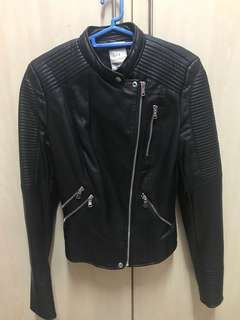 Zara Leather Jacket Authentic 9/10 conditions