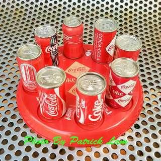 可口可樂迷你罐仔連擺設盤一套