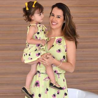 child long dress family matching mother daughter photoshoot outfit set women