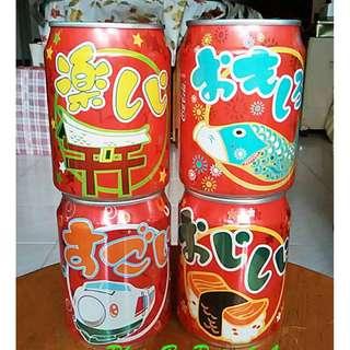 2000年可口可樂日本和風圖案紀念罐一套