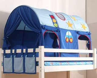 (PO) BN Boys' Sleeping Bed Tent Canopy for Single Top/Bottom Bunk (Blue)