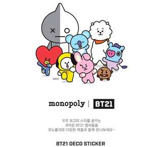 BT21 Deco Stickers