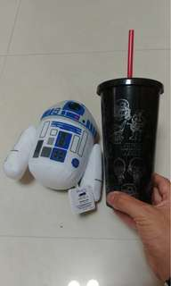 迪士尼 Disney iron man starwar 水杯 mug