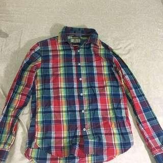grn彩虹格紋襯衫