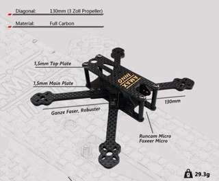 """Amax inno 130mm drone frame 3"""" props"""