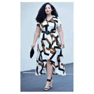 Plus Size Dress with Belt - COD