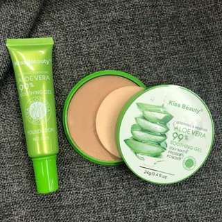 2in1 Foundation and Powder Aloe Vera Soothing Gel