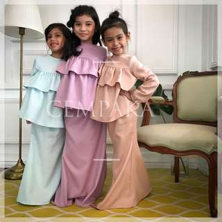 Double Tier Peplum Kurung