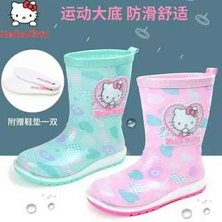 🌸〰韓版KT貓可愛雨鞋〰🌸尺寸可選〰🌸