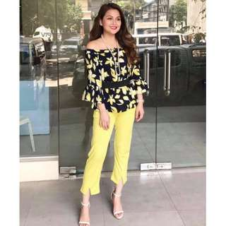 Terno Offshoulder Top and Pants - COD