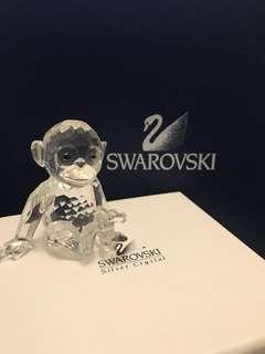 Swarovski 水晶擺設 施華洛世奇 水晶 馬騮仔