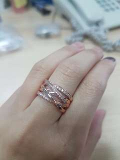 Pandora Rose Gold Entwined Ring