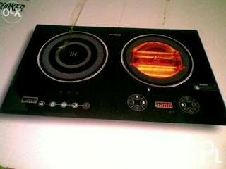 Double Induction and Halogen Cooker