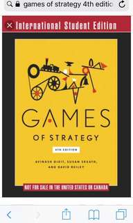 Games of Strategy 4th Edition - International Students Edition