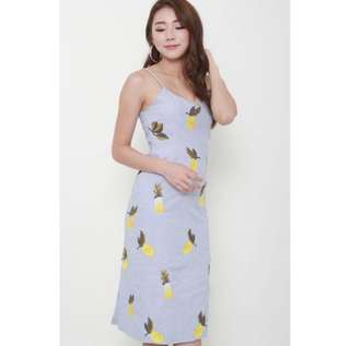 Lemon Embroidered Dress from Singapore