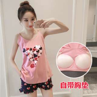 Pre-Order Summer bra strap Pajamas Korean style