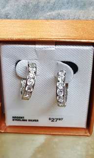 925 Silver CZ Earrings