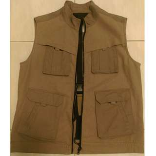 TWO WAY ZIPPER VEST 雙拉鏈背心