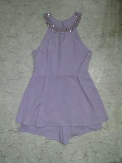 Swap Bejweled Romper Skirt