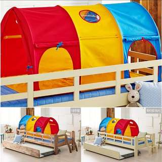 BN Kids' Sleeping Bed Tent Canopy for Single Top/Bottom Bunk (Choose Colours)