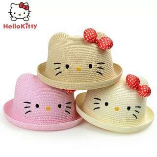 防紫外線🌸韓版KT貓遮陽草帽〰🌸顏色可選〰🌸