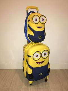 Official Licensed Minion Cabin Bag Set - 2 pieces