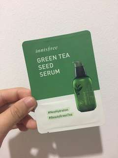 Innisfree green tea seeds serum sample