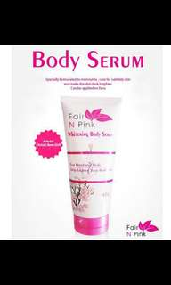 Fair N Pink Serum / Lotion pemutih tubuh (160ml)