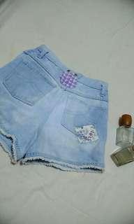Highwaist short (WASH BLUE)