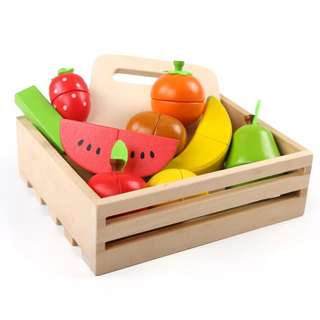 *In Stock* BN Wooden Magnetic Cutting Foods Fruits with Wooden Crate