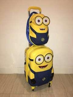 🆕💯 Minion Luggage + Backpack worth RM 520