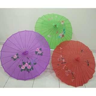 Handmade Chinese Cloth Floral  Umbrellas