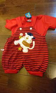 Two piece Red Bear Jumper - with inner shirt 18 mth - 2 yo