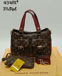 Louis Vuitton Manhattan 2 in  Red Color