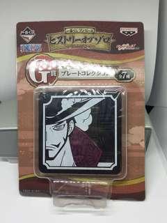 Mihawk Coaster Keychain One Piece Original Merchandise
