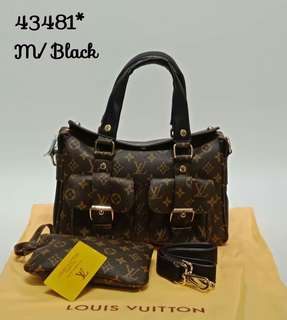 Louis Vuitton Manhattan 2 in 1 Black Color