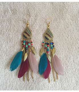 Jane Feather Earrings