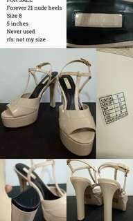 Forever 21 Nude Pageant Heels