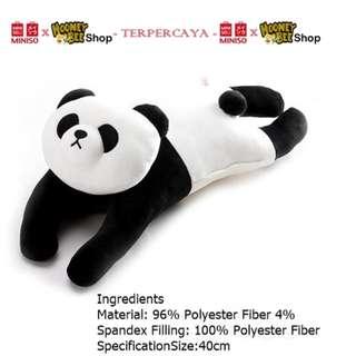 Japan Quality - Bantal Boneka Panda panjang Miniso