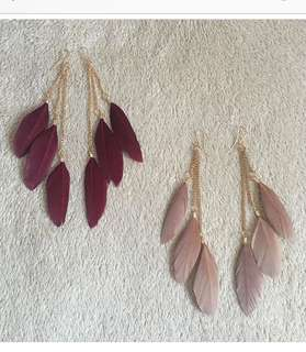 Tracy Feather Earrings