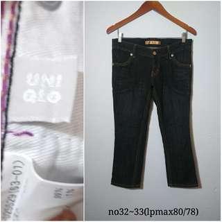 jeans 3/7 uniqlo