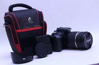 Canon eos 600d + tamron 18-270mm vc (lensa sapu jagat/super zoom)