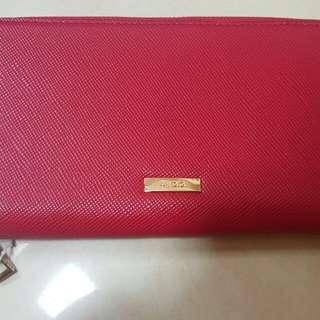 全新紅色Aldo手提包clutch長形銀包