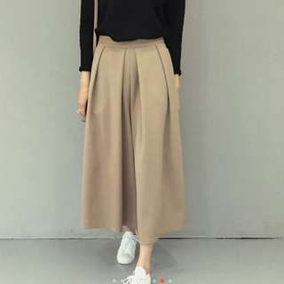 Carly Cropped Pants/Wide-Legged Trousers