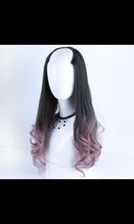 'Preorder' Semi u shape two tone dip dye wavy wig* waiting time 15 days after payment is made*chat to buy if int