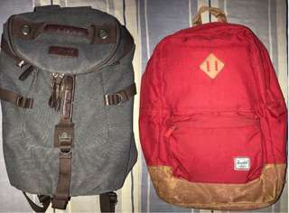 BUNDLE HERSCHEL BACKPACK & CHASE 2 IN 1 DUFFLE/BACKPACK